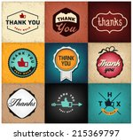 thank you poster card designs... | Shutterstock .eps vector #215369797