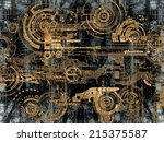 a technically electronic... | Shutterstock . vector #215375587