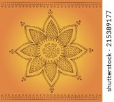 traditional indian style flower ... | Shutterstock .eps vector #215389177
