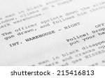 close up of a page from a... | Shutterstock . vector #215416813
