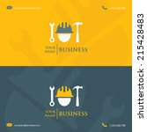 business card template with... | Shutterstock .eps vector #215428483