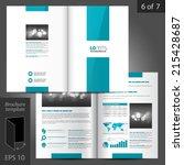 white vector brochure template... | Shutterstock .eps vector #215428687