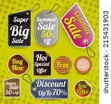 vector illustration of sale...   Shutterstock .eps vector #215431903