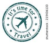 travel time  grunge postal...