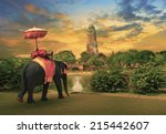 elephant dressing with thai...   Shutterstock . vector #215442607
