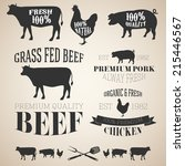 vector collection of beef ... | Shutterstock .eps vector #215446567