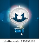 vector background for halloween ... | Shutterstock .eps vector #215454193