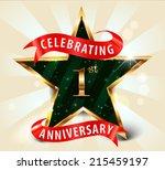1 year anniversary celebration... | Shutterstock .eps vector #215459197
