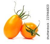 Cherry Tomatoes On White...