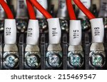 wiring    control panel with... | Shutterstock . vector #215469547