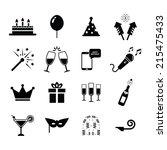 celebration icon | Shutterstock .eps vector #215475433