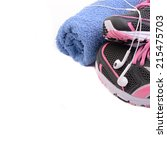 sport shoes fitness concept | Shutterstock . vector #215475703