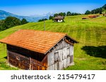 Wooden Houses In Malbun In...