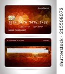 templates of credit cards... | Shutterstock .eps vector #215508073