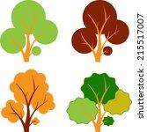 fall trees  autumn trees  tree...   Shutterstock .eps vector #215517007