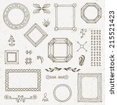 vintage hand drawn frames... | Shutterstock .eps vector #215521423