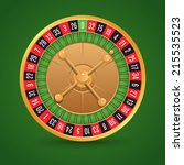 realistic casino roulette...   Shutterstock .eps vector #215535523