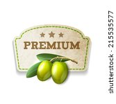 green olives premium food... | Shutterstock .eps vector #215535577