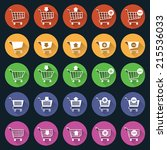 shopping cart icons button web... | Shutterstock .eps vector #215536033
