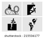 business risk icons | Shutterstock .eps vector #215536177