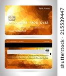 templates of credit cards... | Shutterstock .eps vector #215539447
