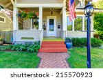 Classic American House Entranc...