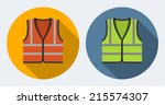 orange and green safety vests... | Shutterstock .eps vector #215574307