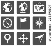 vector set of  geography icons. | Shutterstock .eps vector #215590807