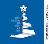 simple blue vector christmas... | Shutterstock .eps vector #215597113