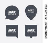 best boyfriend sign icon. award ...   Shutterstock .eps vector #215626153