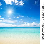 beach and tropical sea | Shutterstock . vector #215643583