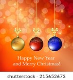 christmas background | Shutterstock .eps vector #215652673