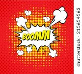 cartoon  boom  explosion comic...