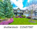 big custom made luxury house... | Shutterstock . vector #215657587