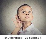 Curious Man  Boy  Listens....