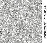 cartoon vector doodles hand... | Shutterstock .eps vector #215685937