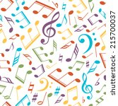 vector musical pattern with... | Shutterstock .eps vector #215700037