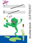 singing frog | Shutterstock .eps vector #215702557