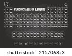 periodic table of elements with ... | Shutterstock . vector #215706853