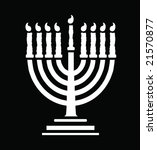 black and white menorah... | Shutterstock . vector #21570877