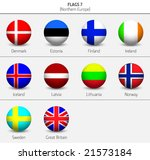 flags of northern europe states ...   Shutterstock .eps vector #21573184