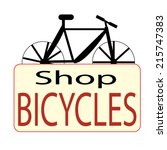 vintage and modern bicycle shop ... | Shutterstock .eps vector #215747383