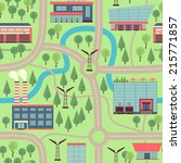 illustration city map. cartoon. ... | Shutterstock .eps vector #215771857