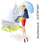 beauty is on the street | Shutterstock .eps vector #215787487