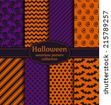 set of halloween backgrounds.... | Shutterstock .eps vector #215789257