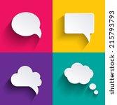 speech bubbles in flat design...