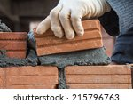 Building Brick Block Wall On...