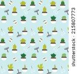 cactus garden | Shutterstock .eps vector #215807773