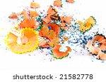 pencils sawdust background | Shutterstock . vector #21582778