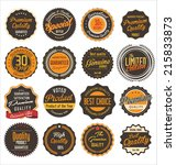 premium quality retro labels | Shutterstock .eps vector #215833873